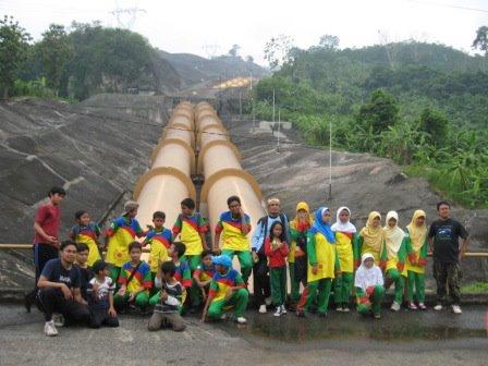 Geo Track... Melewati turbin PLTA Saguling... Whoaaa!